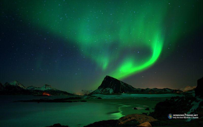 aurora borealis hearth skies wallpaper