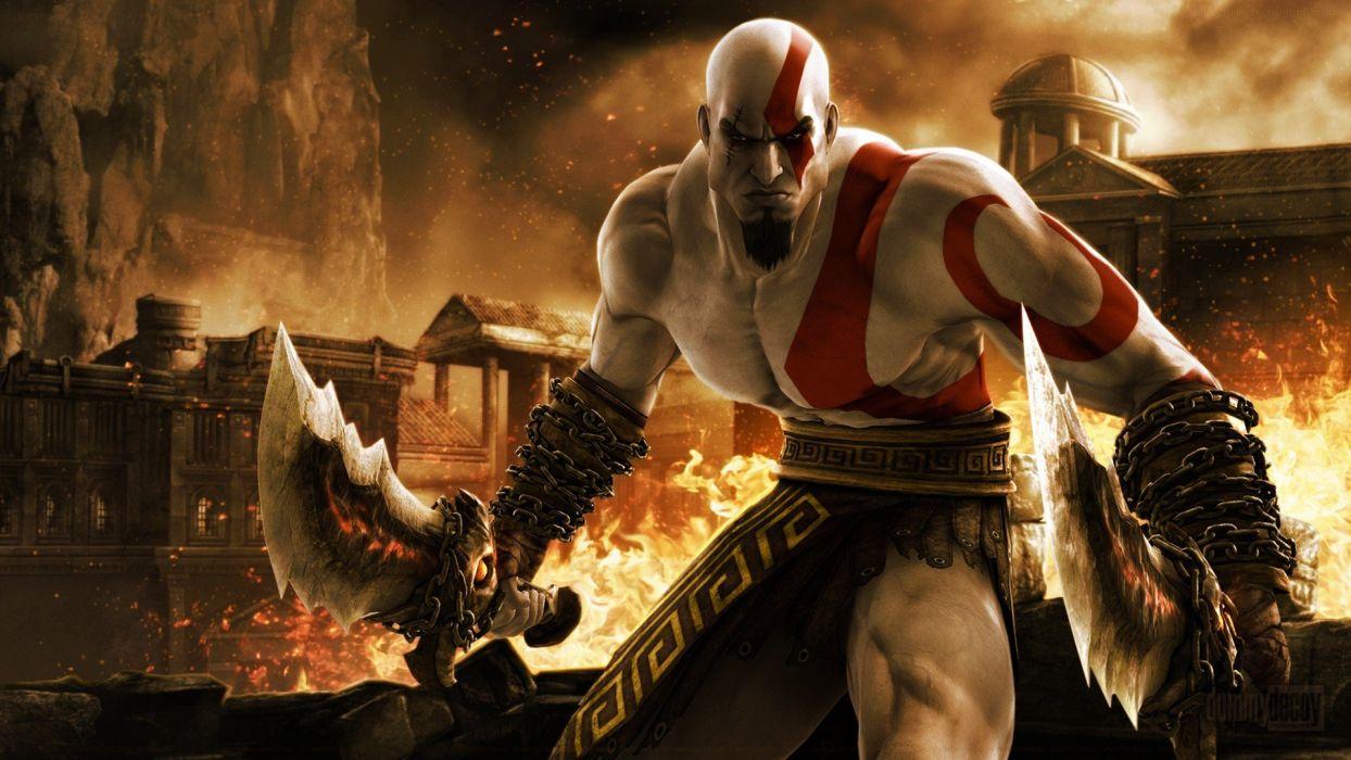 Sparta rage God of War Kratos wallpaper
