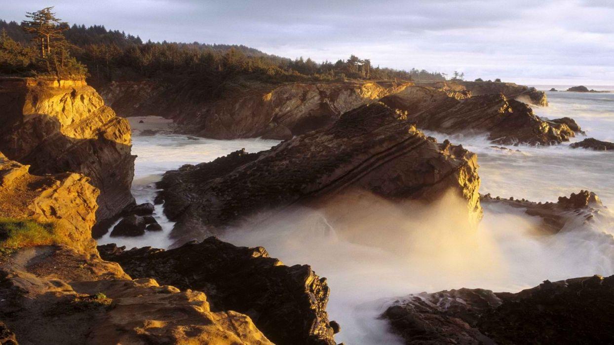 shore Oregon wallpaper