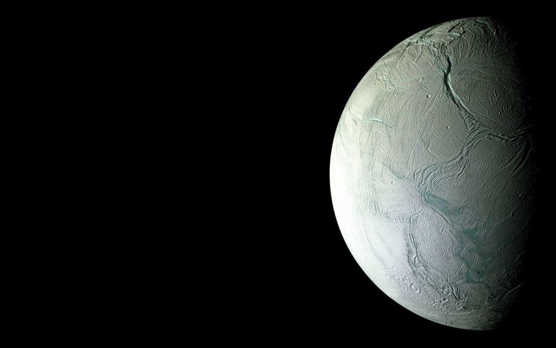 outer space Moon Enceladus wallpaper