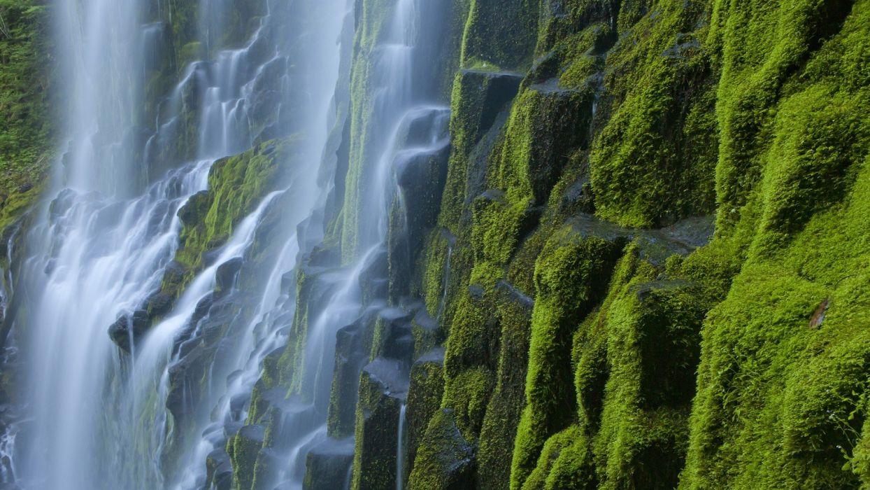 mountains Oregon waterfalls proxy wallpaper