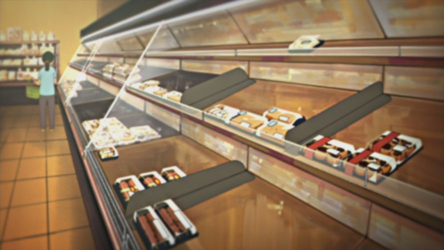 indoors illustrations anime Nichijou shop wallpaper