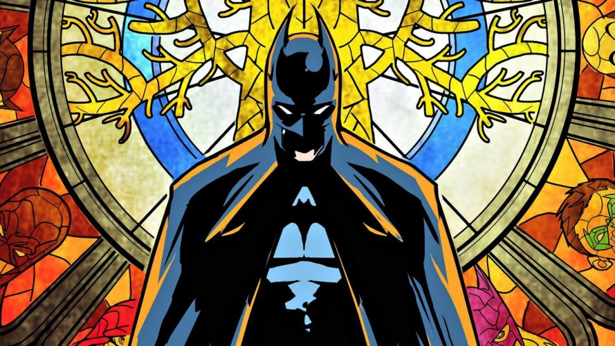 Batman DC Comics artwork stained glass wallpaper
