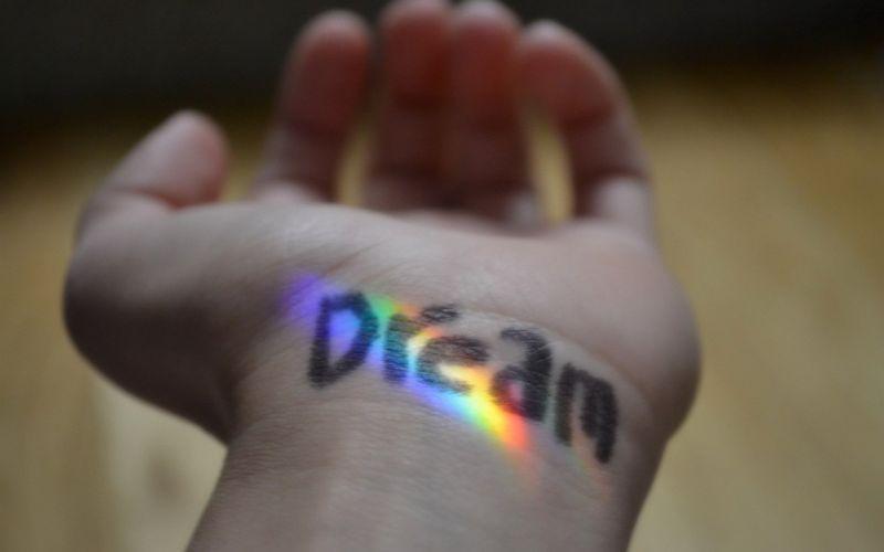 rainbows macro hand sign wallpaper