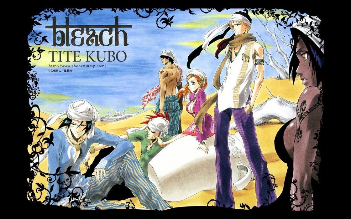 deserts Bleach Kurosaki Ichigo Inoue Orihime Shihouin Yoruichi Abarai Renji Ishida Uryuu wallpaper