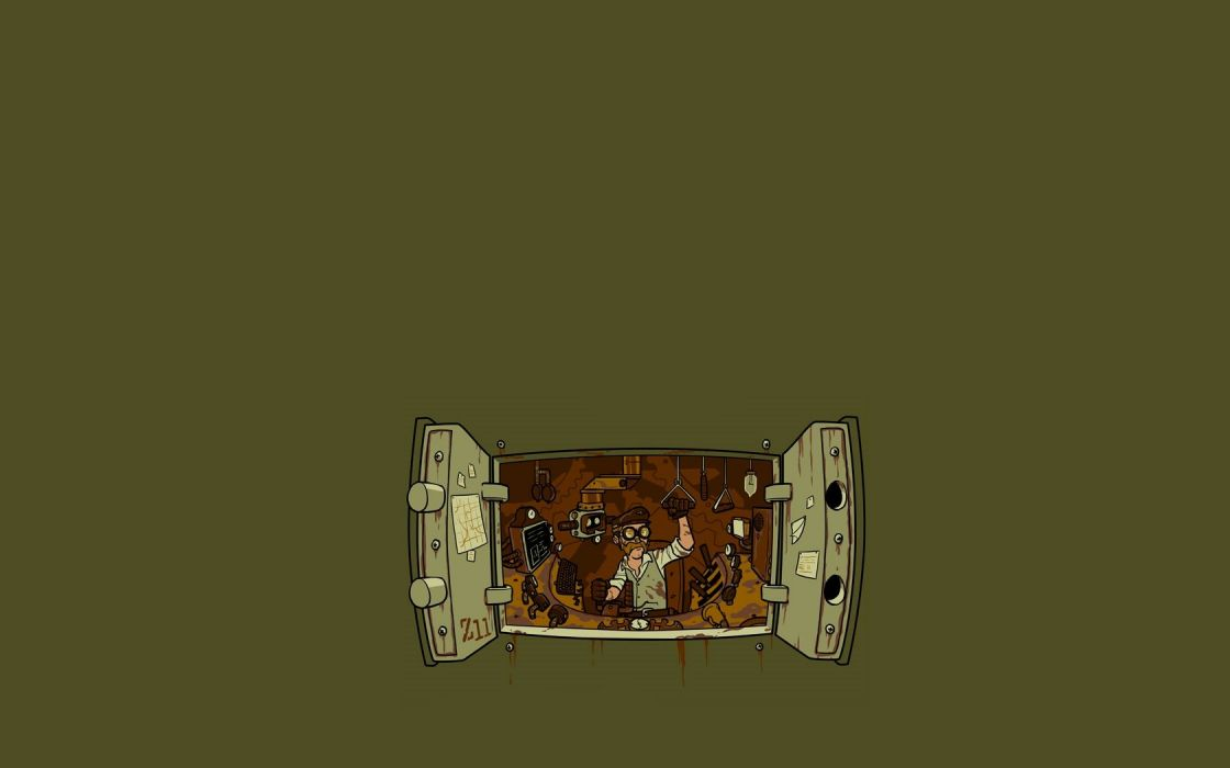 minimalistic steampunk rust wallpaper