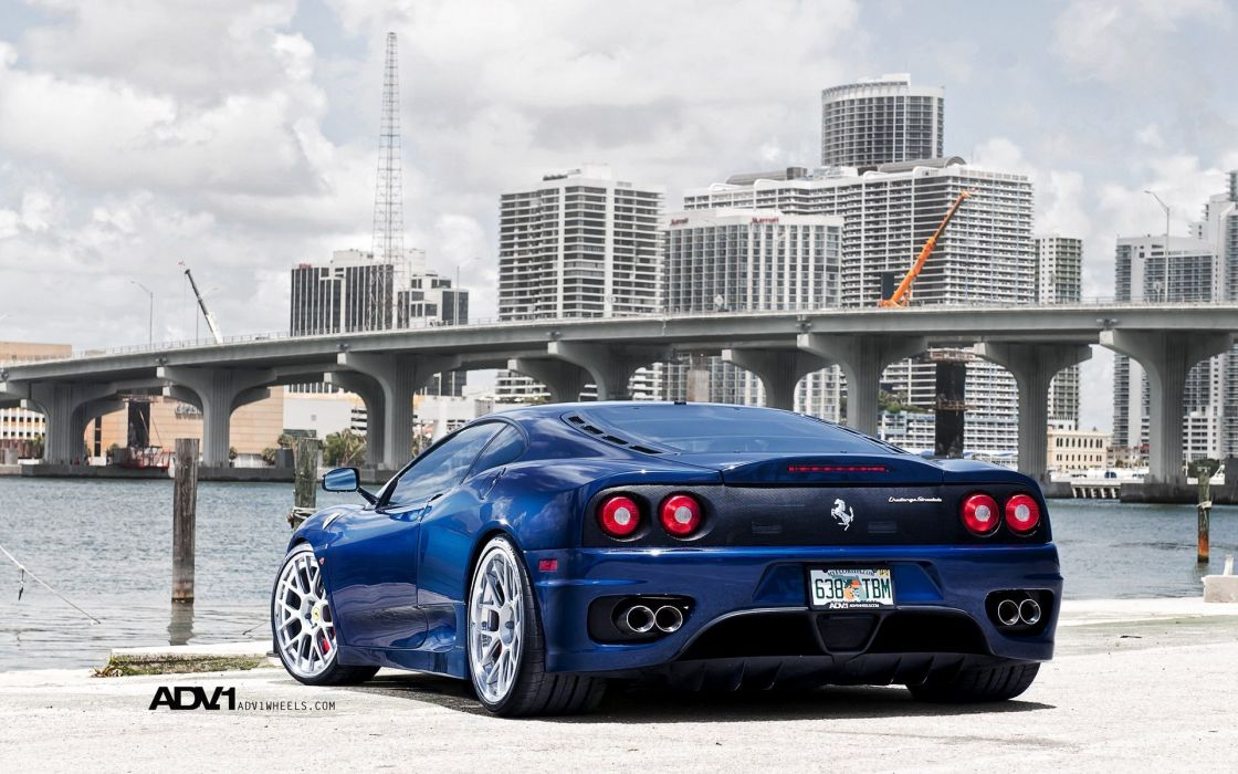 blue cars Ferrari tuning Ferrari 360 Challenge Stradale Ferrari 360 wallpaper