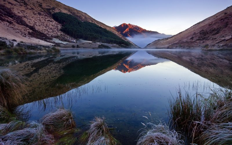 mountains landscapes nature lakes reflections wallpaper