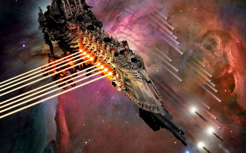 Gothic Space Battle Warhammer 40k wallpaper