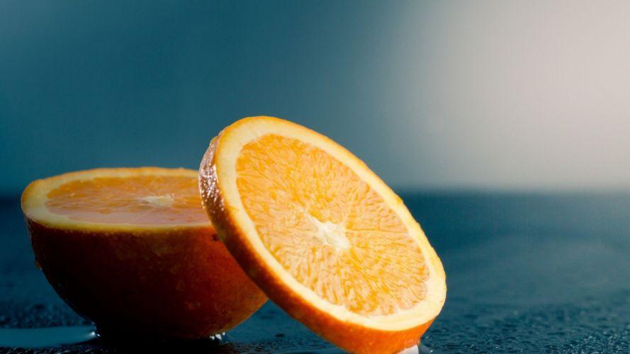 fruits food oranges orange slices wallpaper
