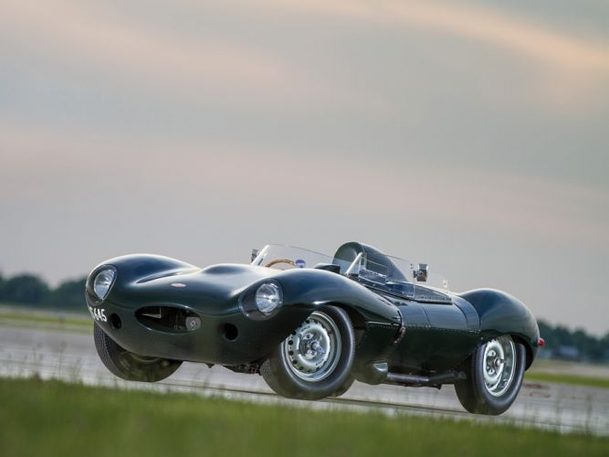 1955 Jaguar D-Type race racing retro g wallpaper