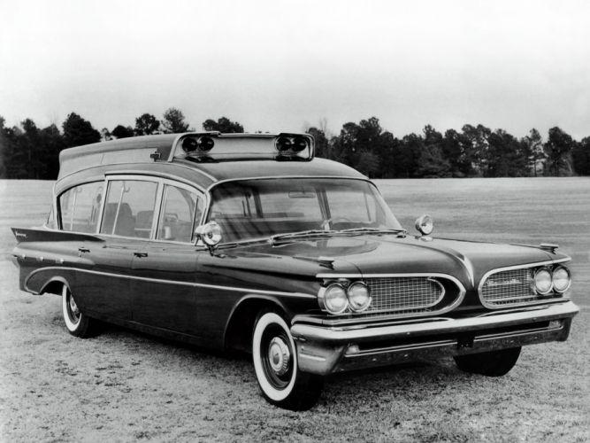 1959 Superior Pontiac Criterion Suburban Hightop Ambulance stationwagon emergency retro g wallpaper