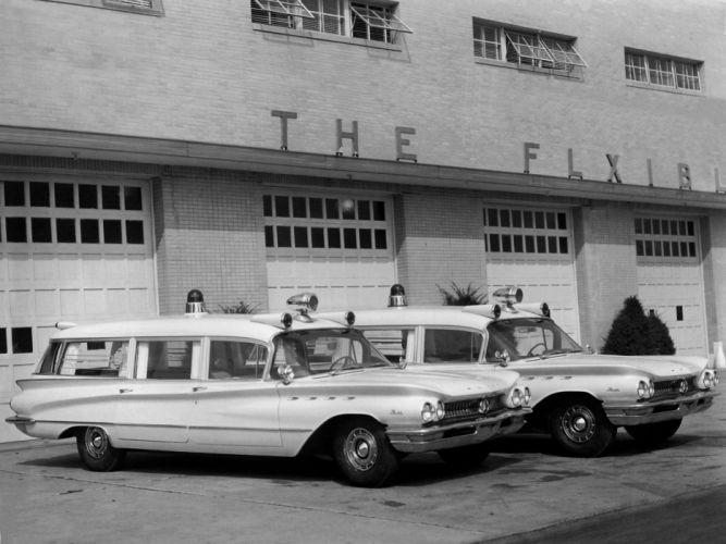 1960 Flxible Buick Premier Ambulance emergency stationwagon classic f wallpaper
