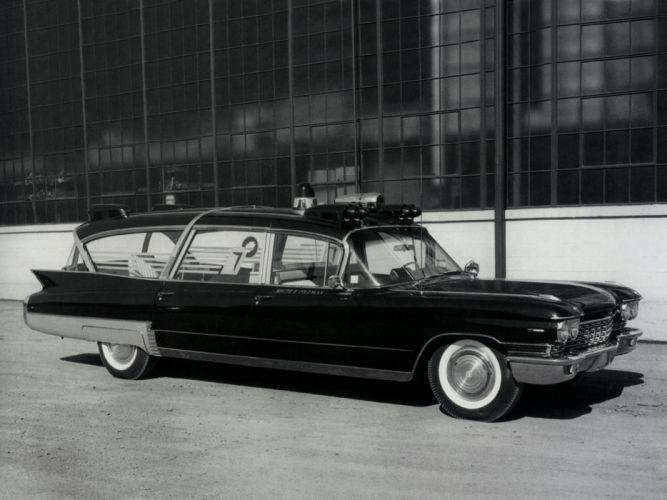 1960 Superior Cadillac Crown Royale Limousine Ambulance (6890) emergency stationwagon classic g wallpaper
