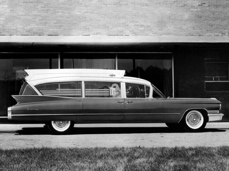 1960 Superior Cadillac Royale Super Rescuer Ambulance emergency stationwagon classic  f wallpaper