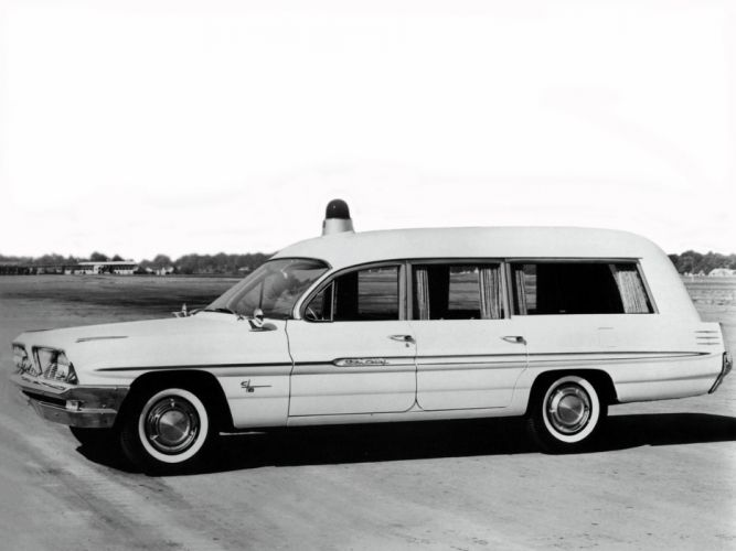 1961 Cotner Bevington Pontiac Combination hearse ambulance stationwagon classic f wallpaper