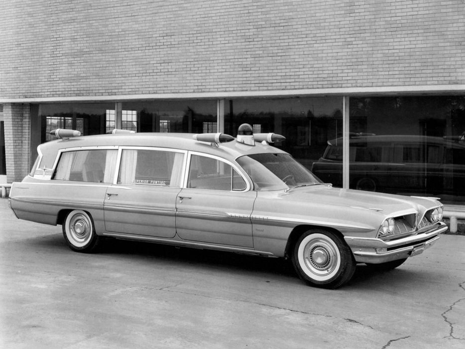 1961 Superior Pontiac Criterion ambulance stationwagon classic  g wallpaper