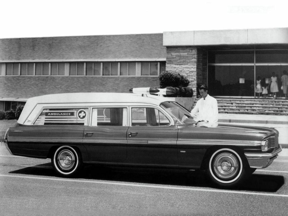1962 Superior Pontiac Consort Ambulance emergency stationwagon classic  f wallpaper