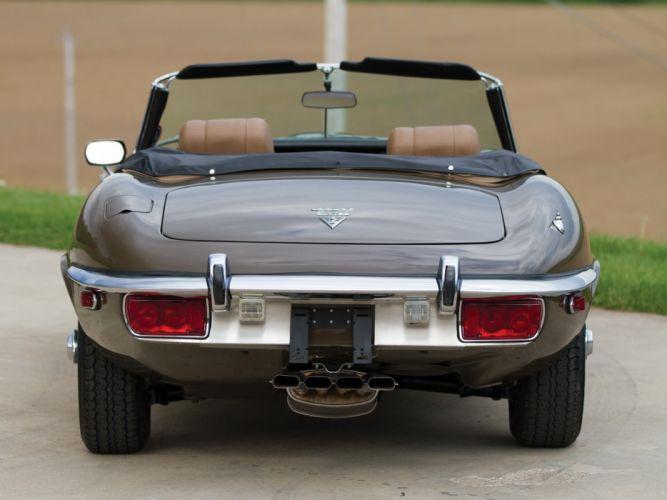 1971-74 Jaguar E-Type V12 Open Two Seater US-spec (Series-III) supercar classic fq wallpaper