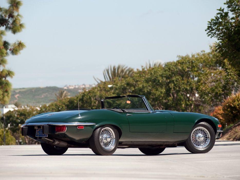 1971-74 Jaguar E-Type V12 Open Two Seater US-spec (Series-III) supercar classic   da wallpaper