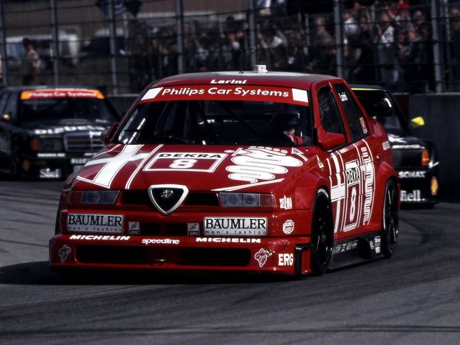 1993 Alfa Romeo 155 V-6 T-I DTM (SE052) race racing   f wallpaper