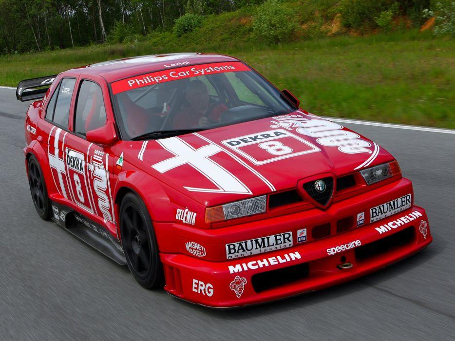 1993 Alfa Romeo 155 V-6 T-I DTM (SE052) race racing        g wallpaper