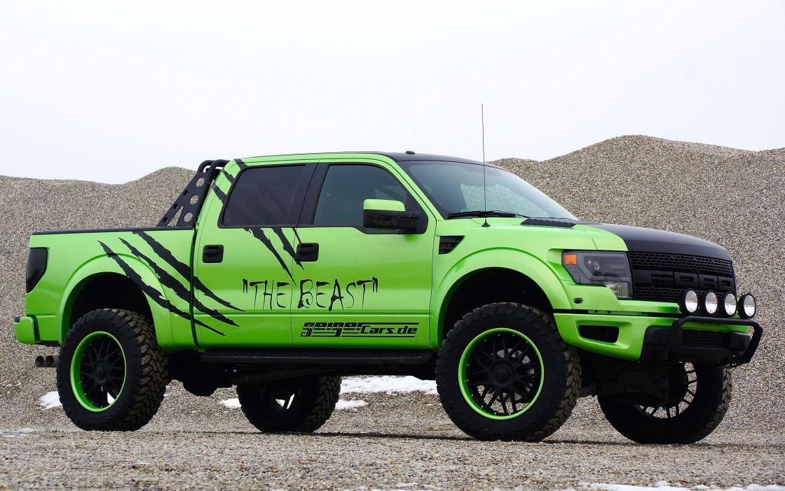 2014 GeigerCars Ford F-150 SVT Raptor Beast pickup muscle tuning hot rod rods      f wallpaper