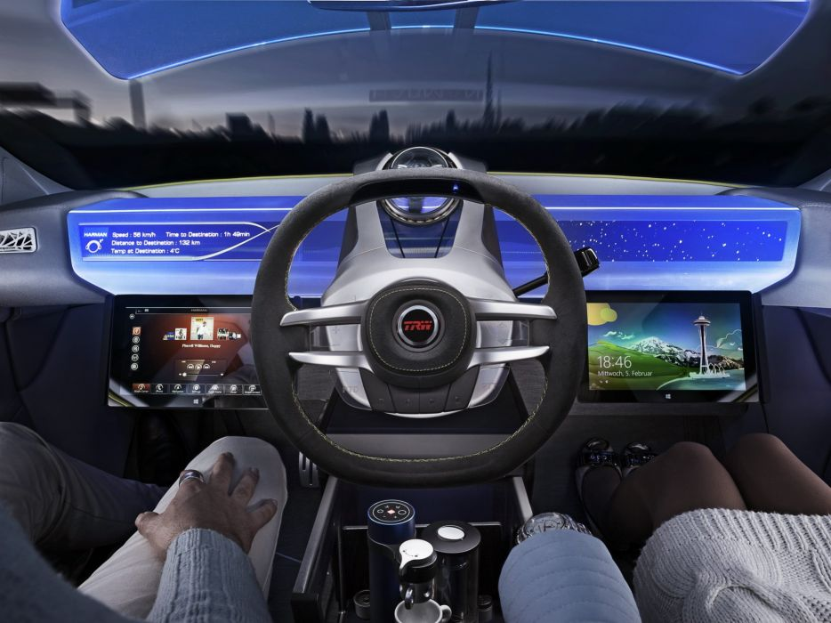 2014 Rinspeed XchangE tesla electric supercar concept interior    g wallpaper