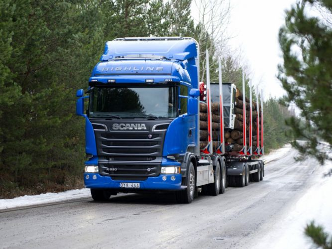 2014 Scania R520 6x4 Streamline Highline Cab Timber semi tractor g wallpaper