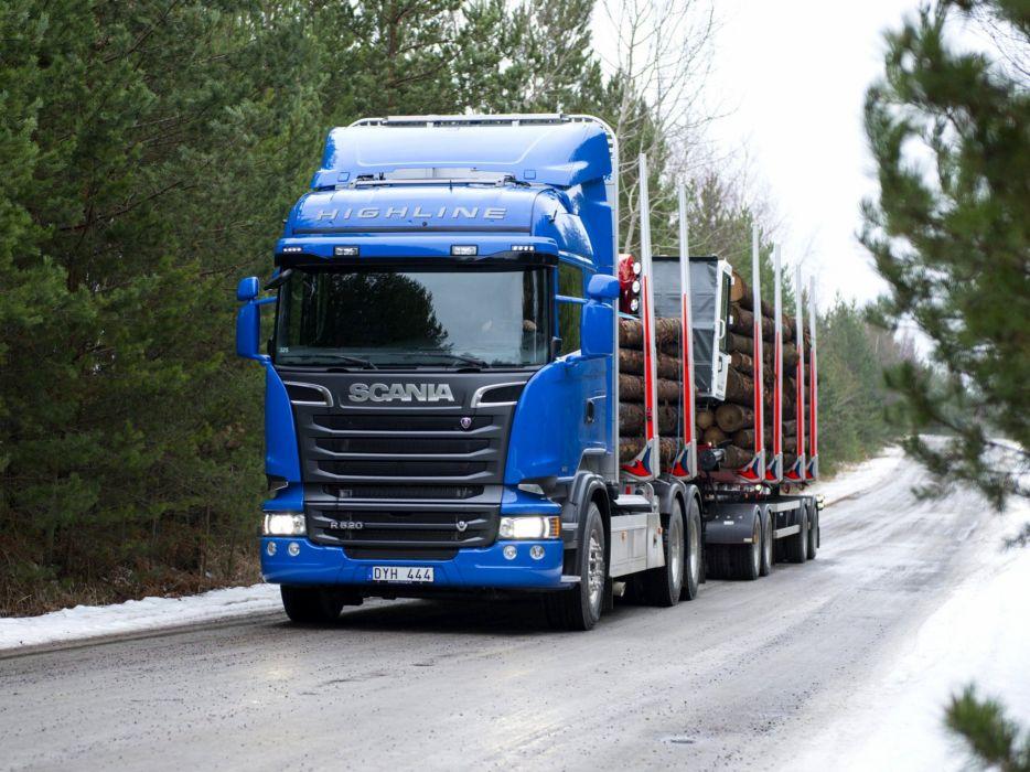 2014 Scania R520 6x4 Streamline Highline Cab Timber semi tractor       g wallpaper