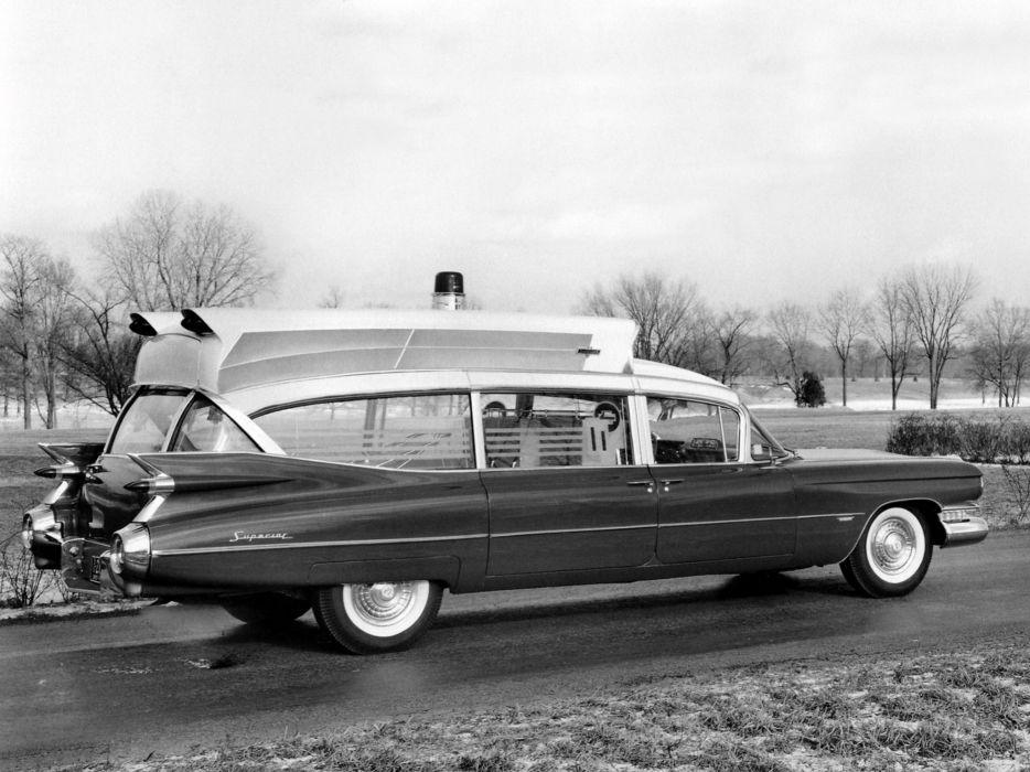 1959 Superior Cadillac Royale Super Rescuer Ambulance (6890) starionwagon emergency retro f wallpaper