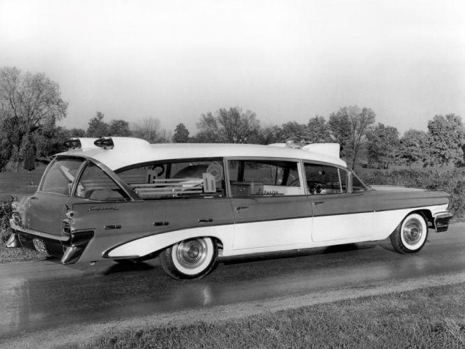 1959 Superior Pontiac Criterion Ambulance emergency stationwaqgon retro f wallpaper