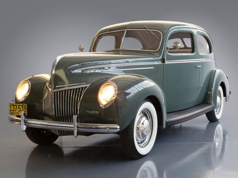 1939 Ford V-8 Deluxe Tudor Sedan (91A-70B) retro      h wallpaper