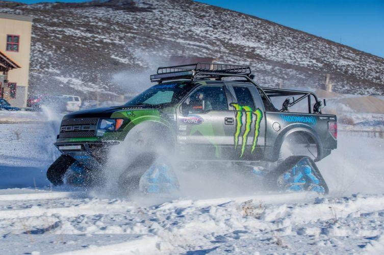 2014 Ford F-150 Raptor TRAX 4x4 winter snow pickup tuning g wallpaper