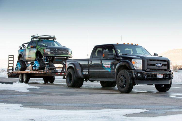 2014 Ford F-150 Raptor TRAX 4x4 winter snow pickup tuning r wallpaper