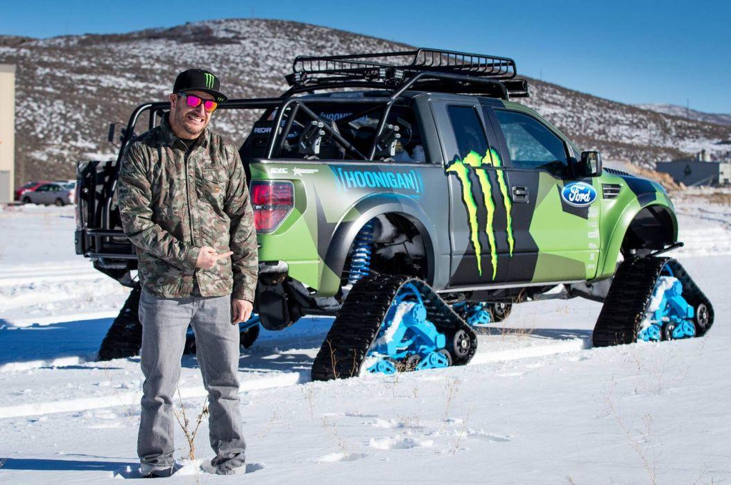 2014 Ford F-150 Raptor TRAX 4x4 winter snow pickup tuning   f wallpaper