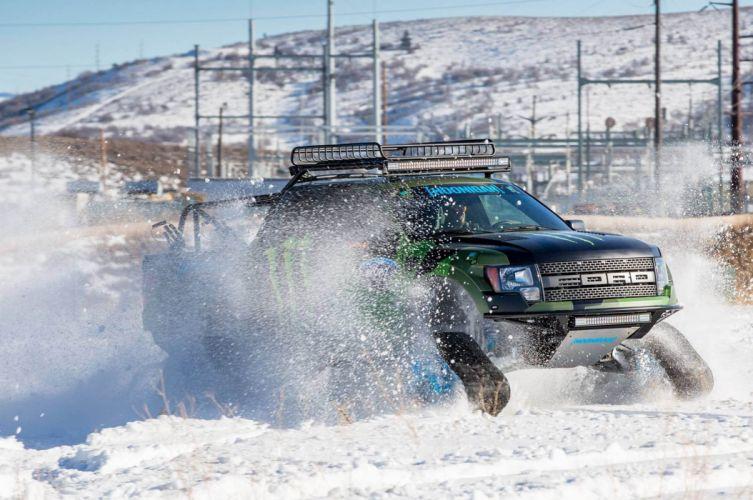 2014 Ford F-150 RaptorTRAX pickup winter snow 4x4 tuning muscle (2) wallpaper