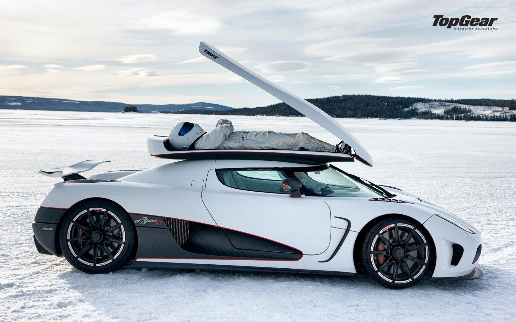 Winter white cars Top Gear The Stig Koenigsegg Agera R ...