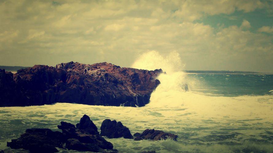ocean landscapes crash sea wallpaper