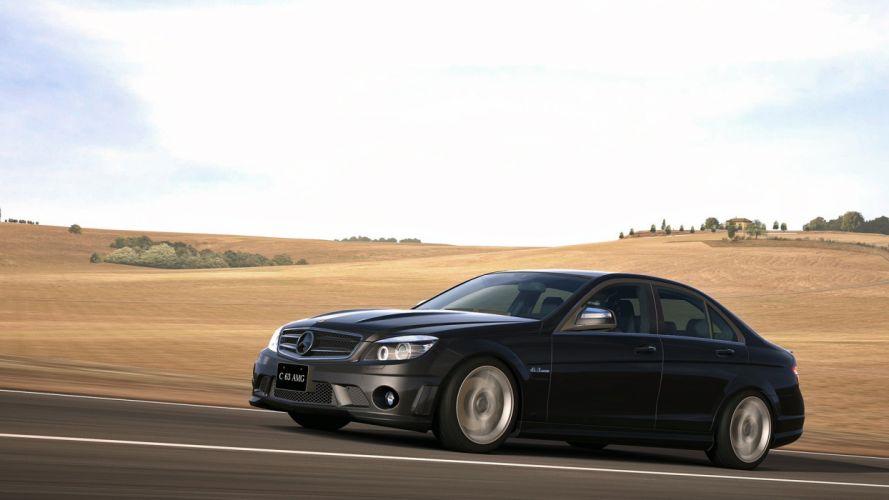 video games cars Gran Turismo 5 Playstation 3 Mercedes Benz C63 Amg wallpaper
