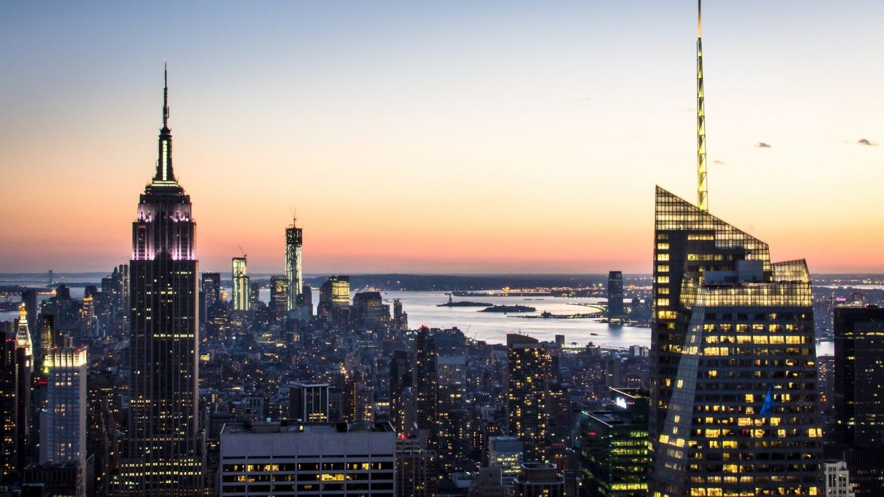 architecture USA New York City towns skyscrapers cities wallpaper