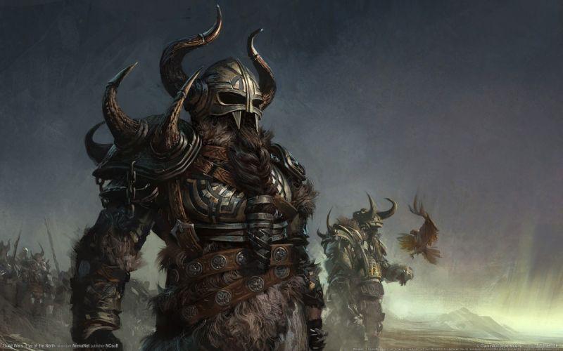 fantasy video games birds Guild Wars armor warriors Guild Wars Eye of the North wallpaper