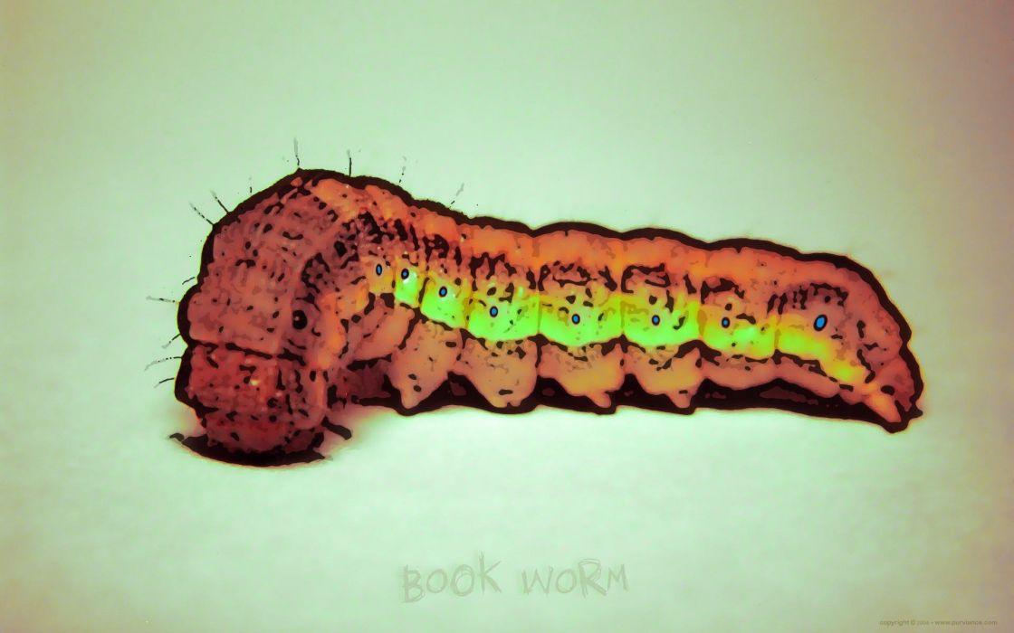 abstract bookworm artwork caterpillar wallpaper