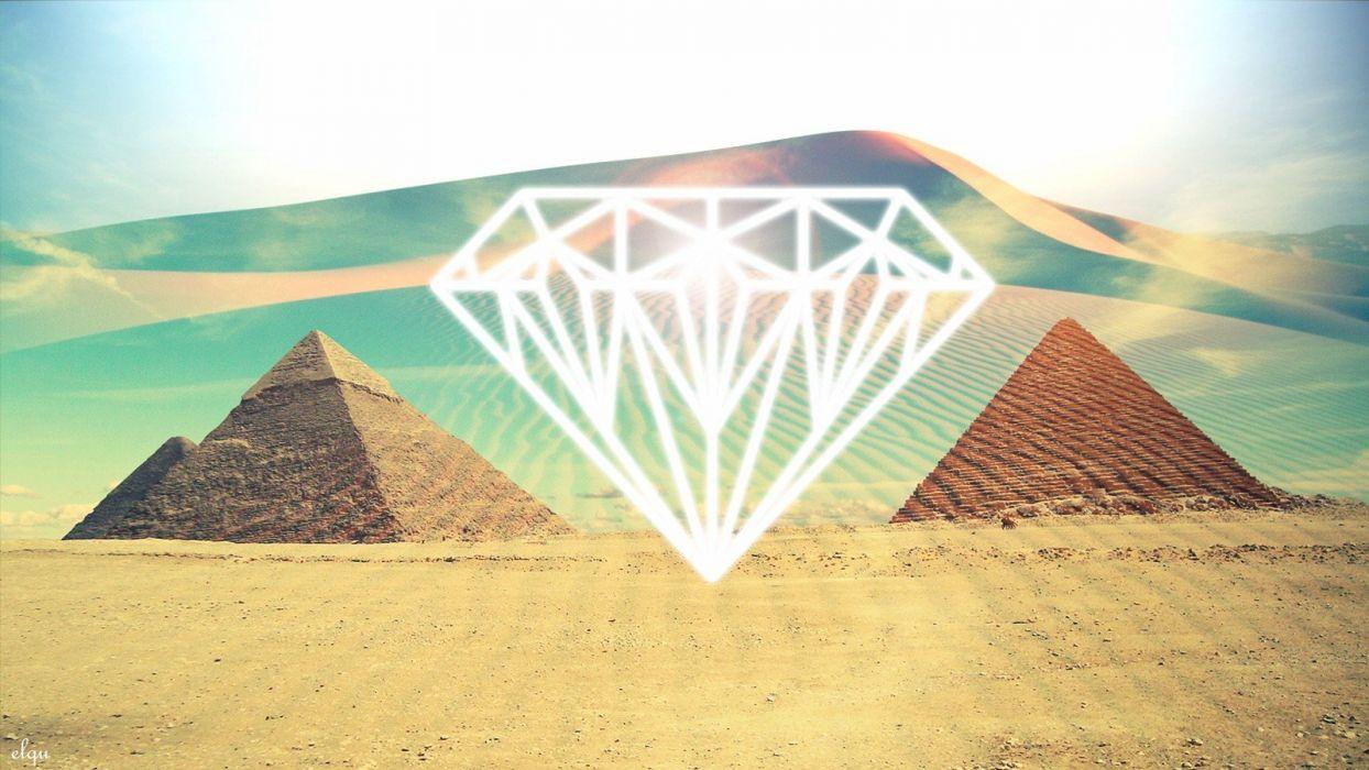 light abstract deserts artwork diamonds pyramids diamond wallpaper