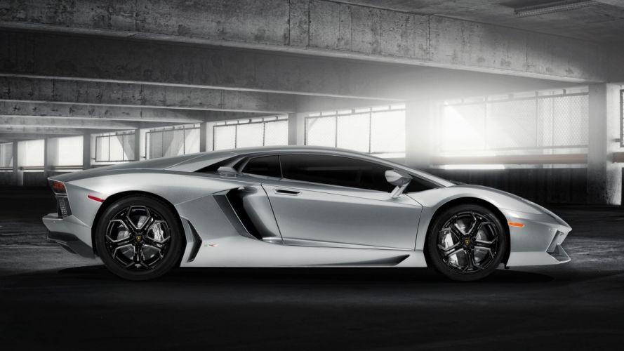 cars parking Lamborghini Aventador LP700-4 wallpaper