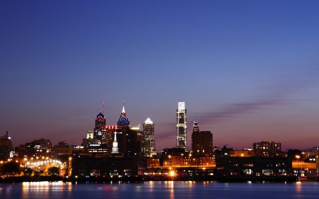 cityscapes skylines Philadelphia wallpaper