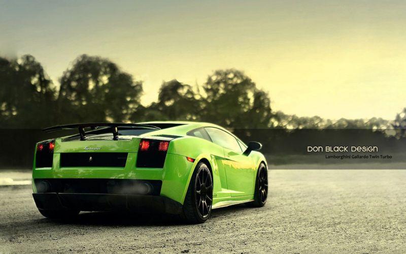 cars Lamborghini green cars wallpaper