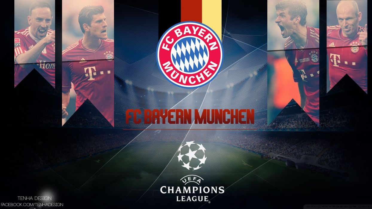 sports soccer Champions League football teams Bayern Uefa Champions League bayern munich Bundesliga Bayern Munchen football players wallpaper
