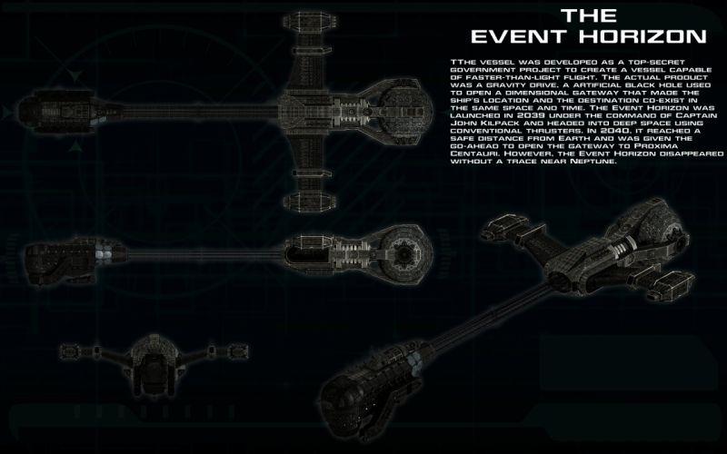 EVENT HORIZON sci-fi horror poster wallpaper
