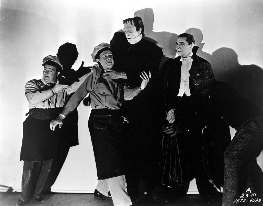 ABBOTT and COSTELLO comedy retro televion movie film frankenstein halloween wallpaper